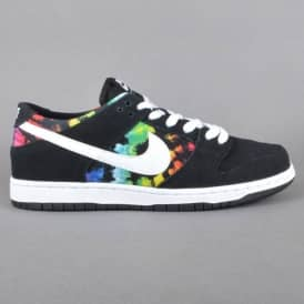 Dunk Low Pro IW Skate Shoes - Black/White-Multi Colour