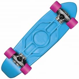 Dusters Skateboards Dusters Mighty Plastic Cruiser Skateboard Blue/White/Pink