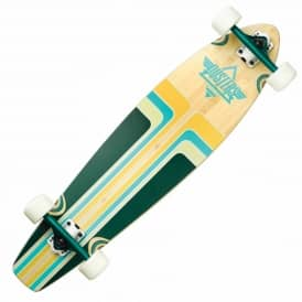 Dusters Skateboards Primo V.2 Bamboo Complete Longboard - Teal/Orange/Bamboo