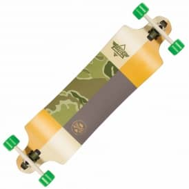 "Dusters Skateboards Scout Drop Down Kryptonics Green Longboard 9"" x 38"""