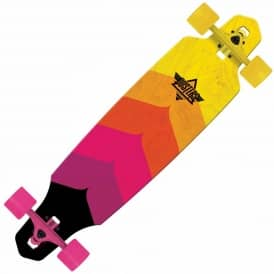 Dusters Wake Drop Through Cruiser Skateboard - Neon