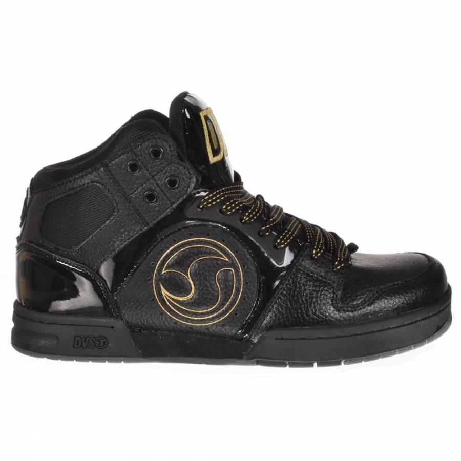 Shoes : DVS Shoes : DVS Shoes DVS Aces High Black/Gold Skate Shoes
