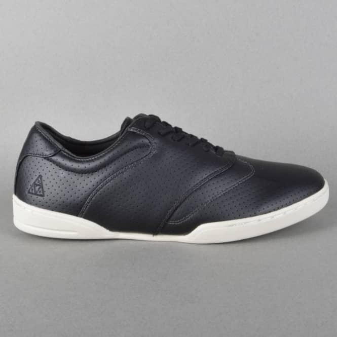 HUF Dylan Skate Shoes - Black Perf/Bone/White