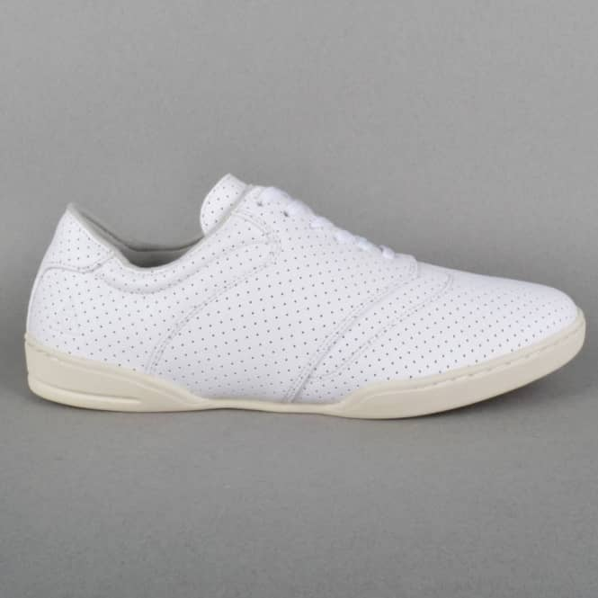 b7c61ee64ab4 HUF Dylan Skate Shoes - White Perf Leather - SKATE SHOES from Native ...