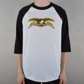 Eagle 3/4 Sleeve Raglan T-Shirt - White/Black