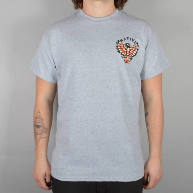 Native Eagle T-Shirt - Grey