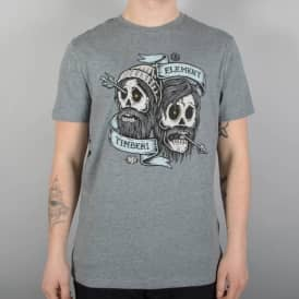 Element Skateboards Bygone Brothers Skate T-Shirt - Grey Heather