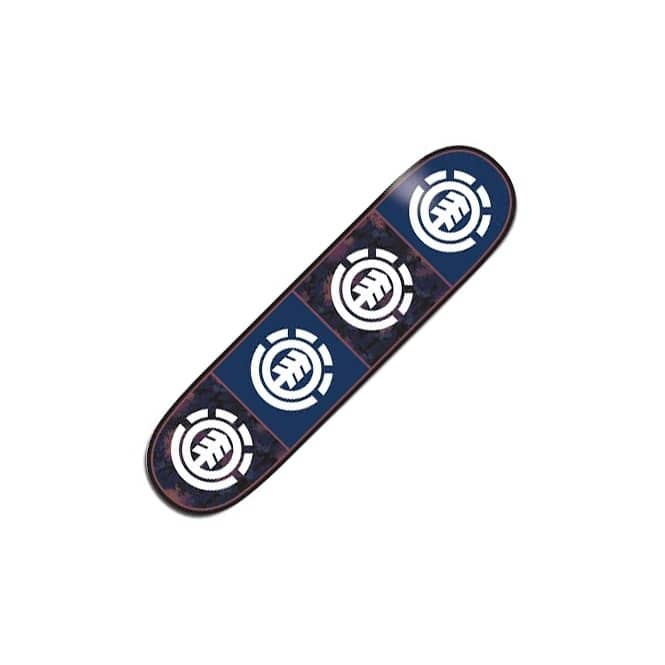 Element Skateboards Element Black Floral Quadrant Skateboard Deck 8.25''