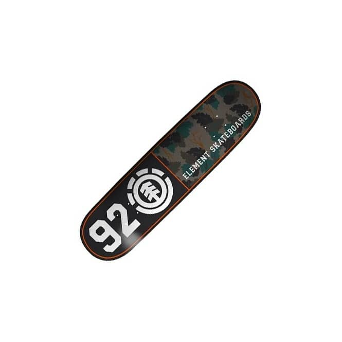 Element Skateboards Element Wine Leaf Camo 92 Skateboard Deck 8.375''