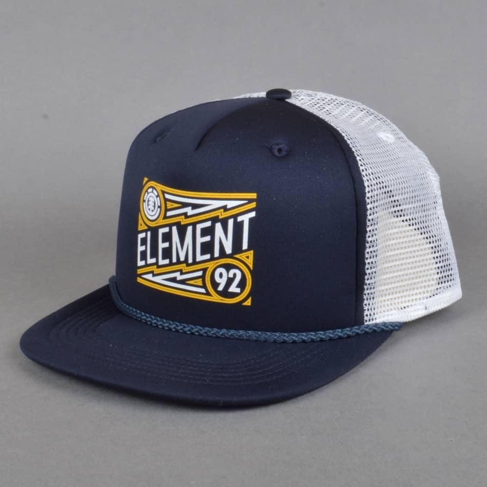 dbec20cea4d Element Skateboards Emblem Trucker Cap - Eclipse Navy - SKATE ...