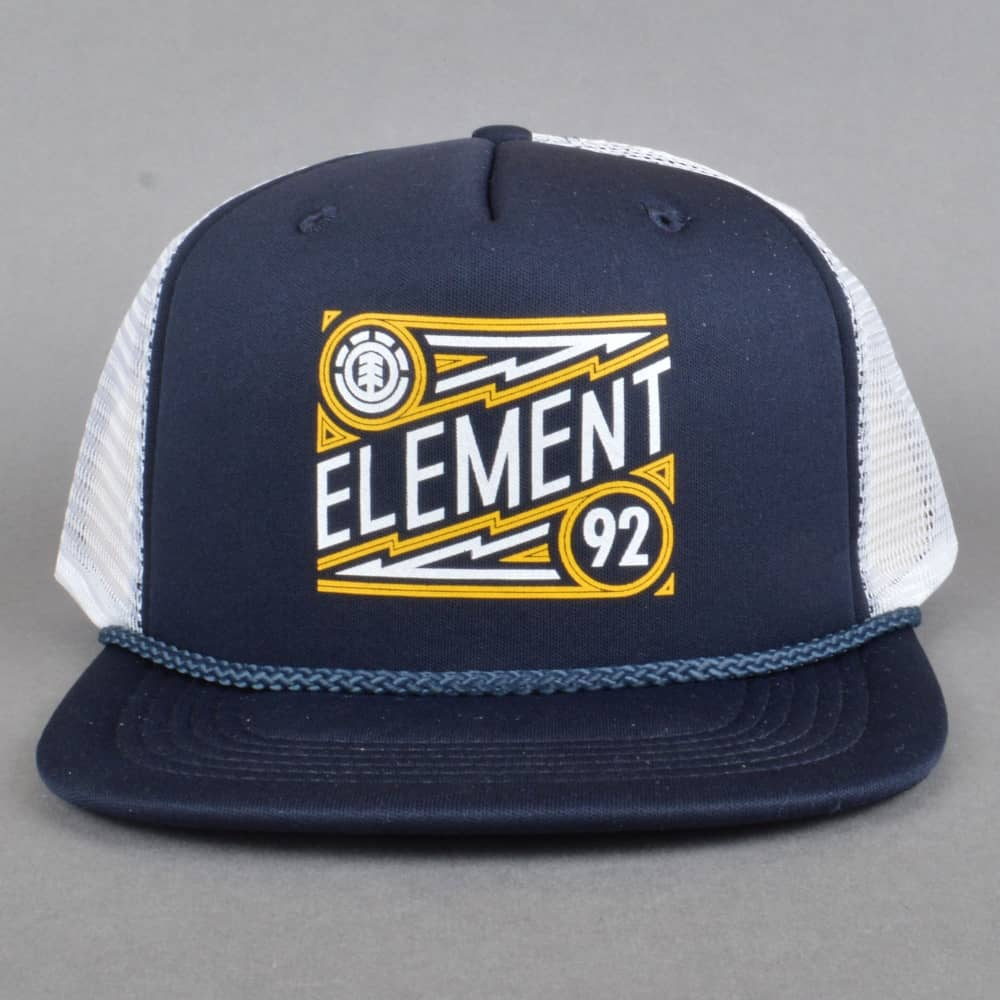 09ce0dbec4e Element Skateboards Emblem Trucker Cap - Eclipse Navy - SKATE ...