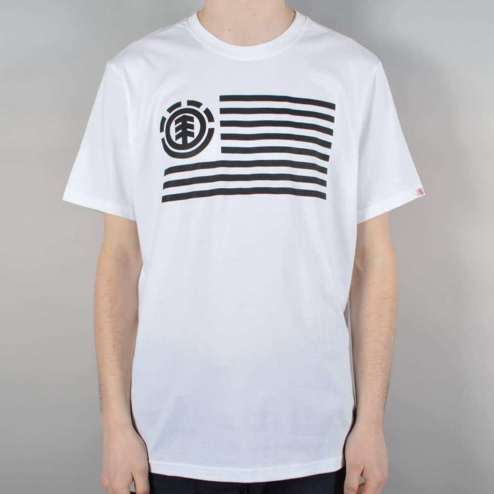 Flag Skate T-Shirt - Optic White