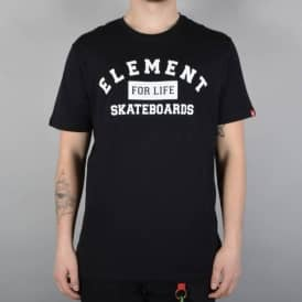 Element Skateboards For Life Skate T-Shirt - Flint Black