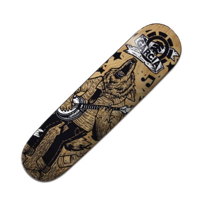 Element Skateboards Garcia Animal Band Skateboard Deck 8.1