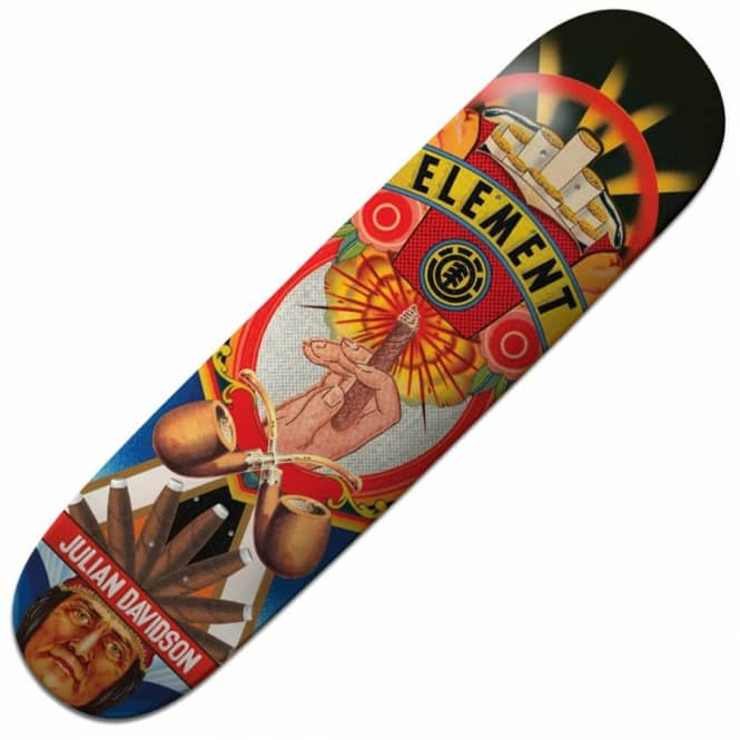 Element Skateboards Julian Davidson Big Business Skateboard Deck 8.0''
