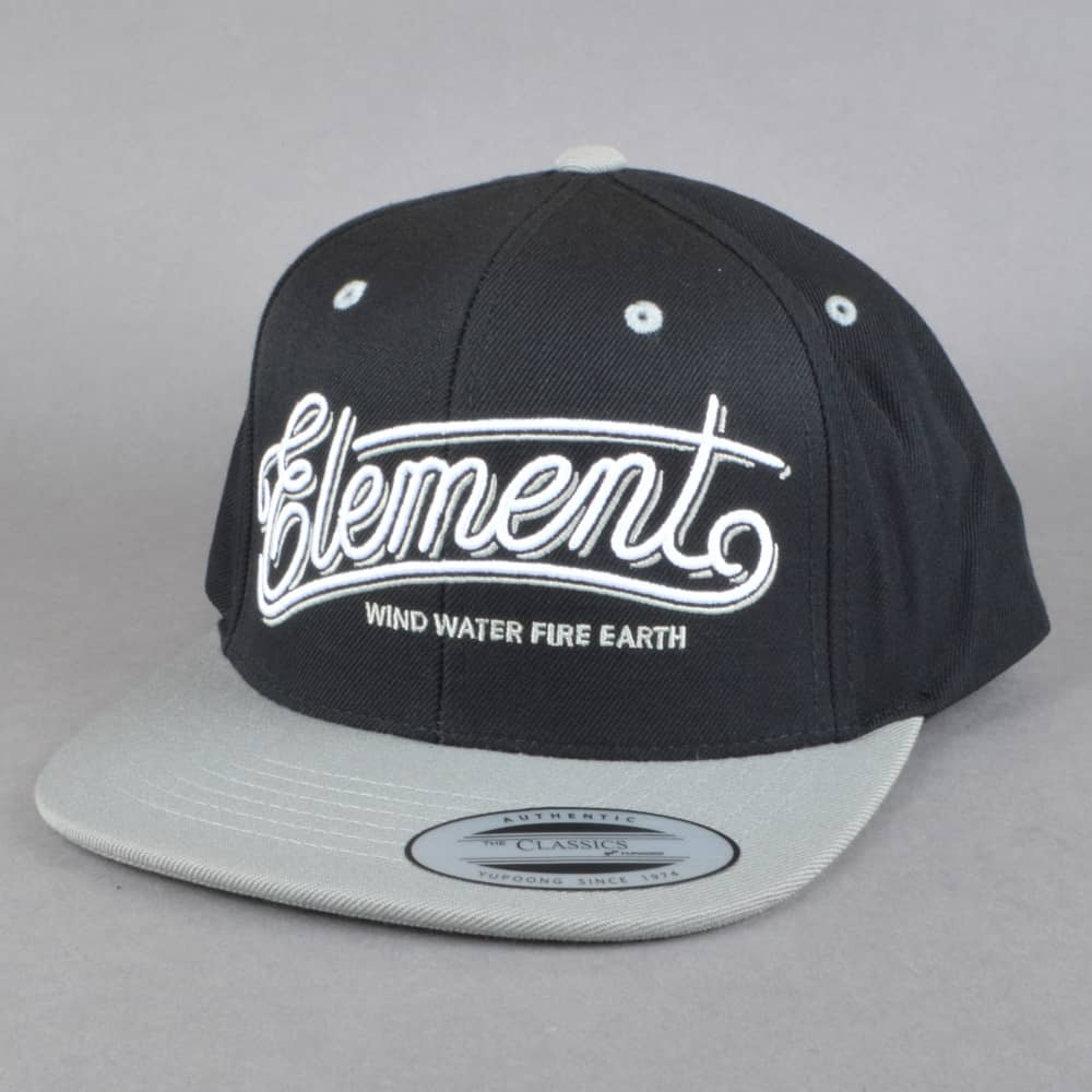 dc1ba00c7b2 Element Skateboards Legacy Snapback Cap - Flint Black Grey - SKATE ...