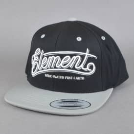 Element Skateboards Legacy Snapback Cap - Flint Black/Grey