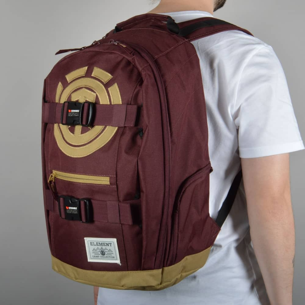62e71cf30704 Element Skateboards Mohave Skate Backpack - Red Napa - ACCESSORIES ...