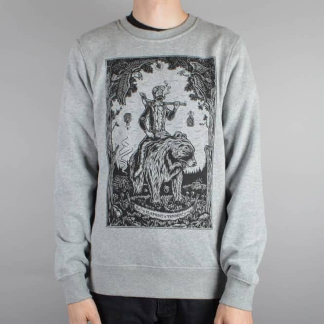 Element Skateboards Morning Commute Crewneck Sweater - Heather Grey