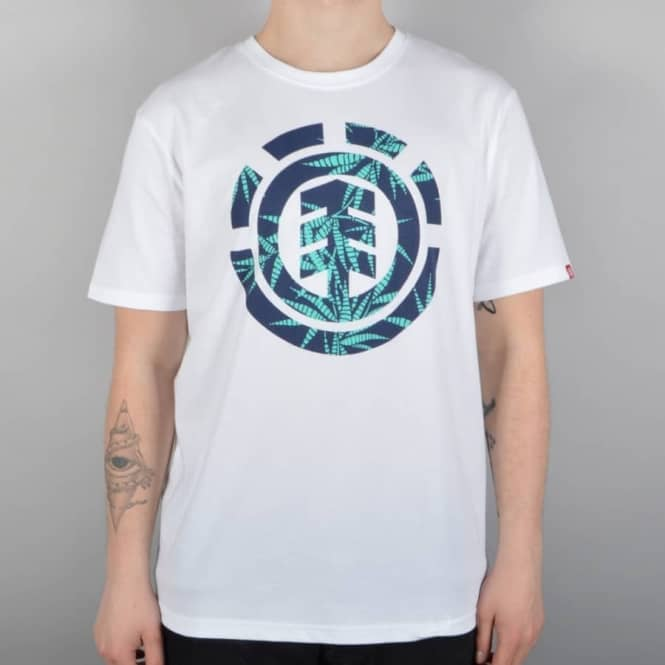 Element Skateboards Nam Palm Fill Skate T-Shirt - Optic White