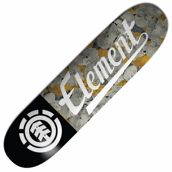 Element Skateboards Script Pop Camo Skateboard Deck 8.25''