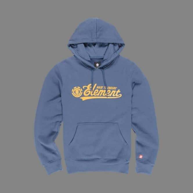 Element Skateboards Signature Youth Pullover Hoodie - Midnight Blue