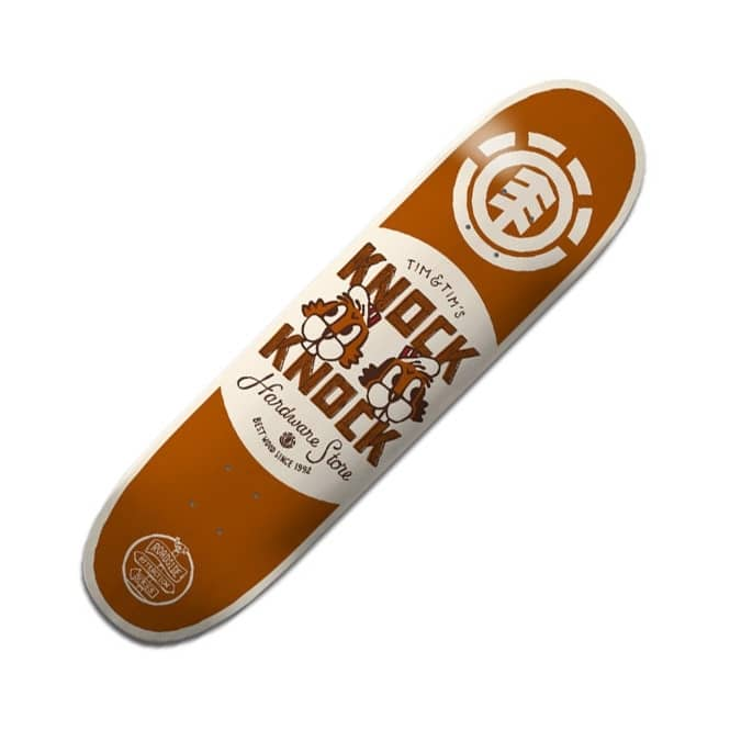 Element Skateboards Tim Tim Knock Knock Featherlight Skateboard Deck 8.125