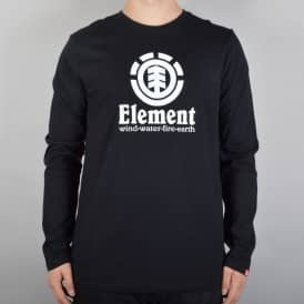 Element Skateboards Vertical Longsleeve Skate T-Shirt - Flint Black