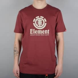 Element Skateboards Vertical Skate T-Shirt - Oxblood Red