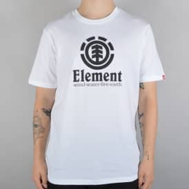 Element Skateboards Vertical Skate T-Shirt - White/Black