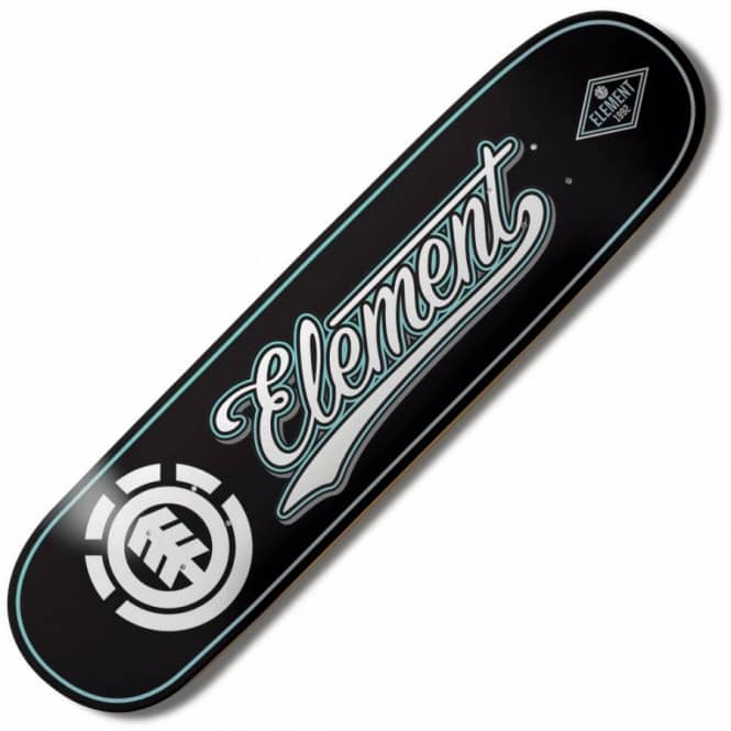 Element Skateboards Element Thriftwood Script Black Skateboard Deck 8.3''