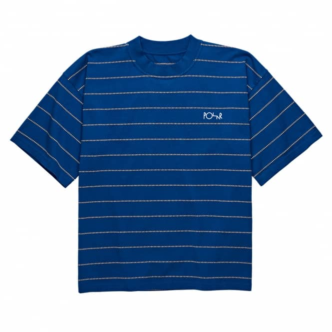 Polar Skateboards Embroidered Checkered Surf T-Shirt - Blue