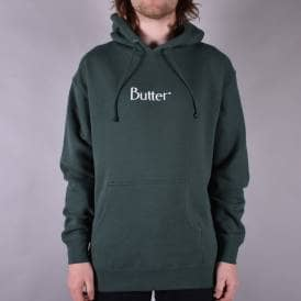 Embroidered Classic Logo Pullover Hoodie - Forest Green