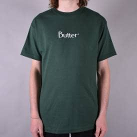 Embroidered Classic Logo Skate T-Shirt - Forest Green