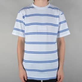 Embroidered Royal Stripe T-Shirt - White