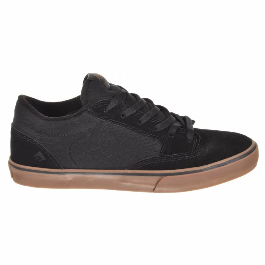 emerica emerica jinx youth black gum kid s skate shoes