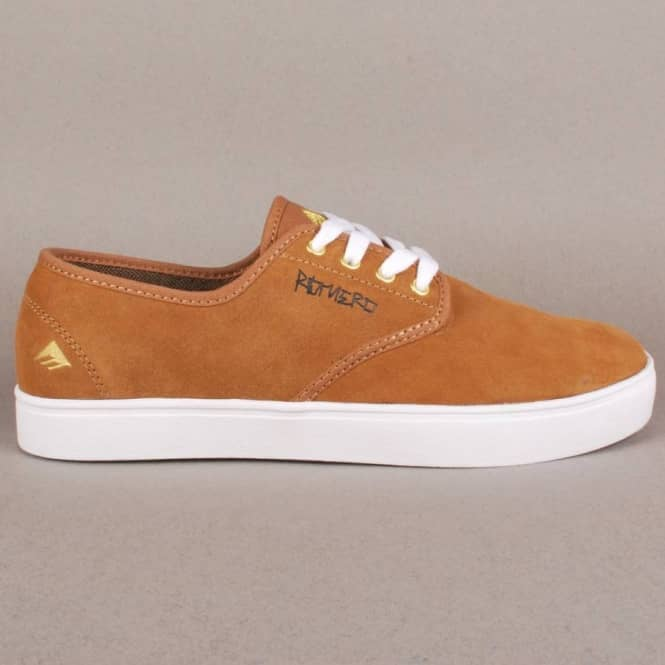 Emerica Emerica Laced By Leo Romero Skate Shoes - Brown/White
