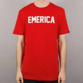 Emerica Standard Issue Skate T-Shirt - Red