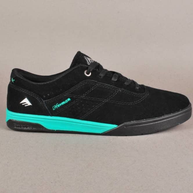Emerica Emerica The Herman G6 Skate Shoes - Black/Teal