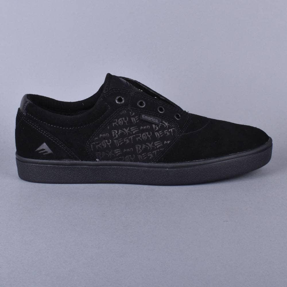 23a1c889f85c5 Emerica Figgy Dose x Baker Skate Shoes - Black Black - SKATE SHOES ...