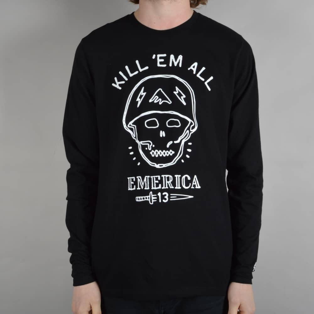 Emerica Kill Em All Longsleeve T-Shirt - Black - SKATE CLOTHING from ... a6609e6fb