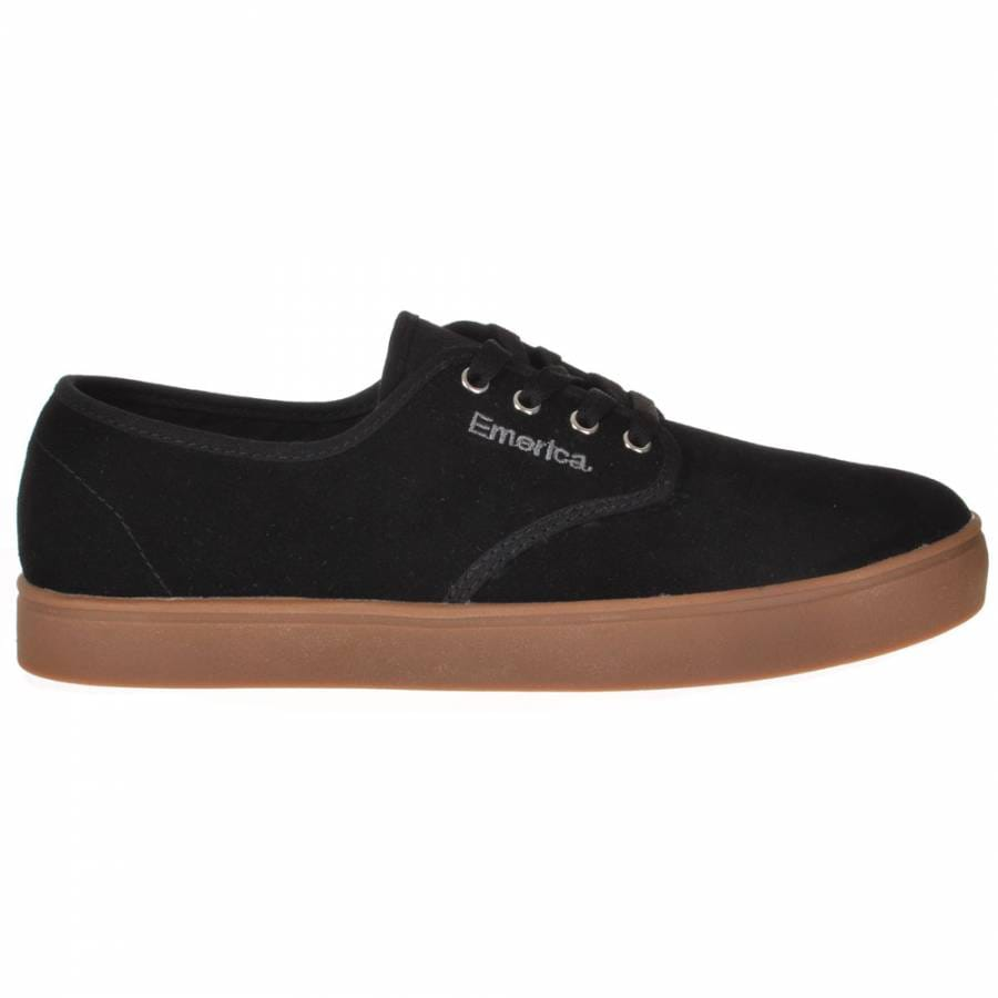 Mens skate shoes emerica emerica laced black silver gum skate