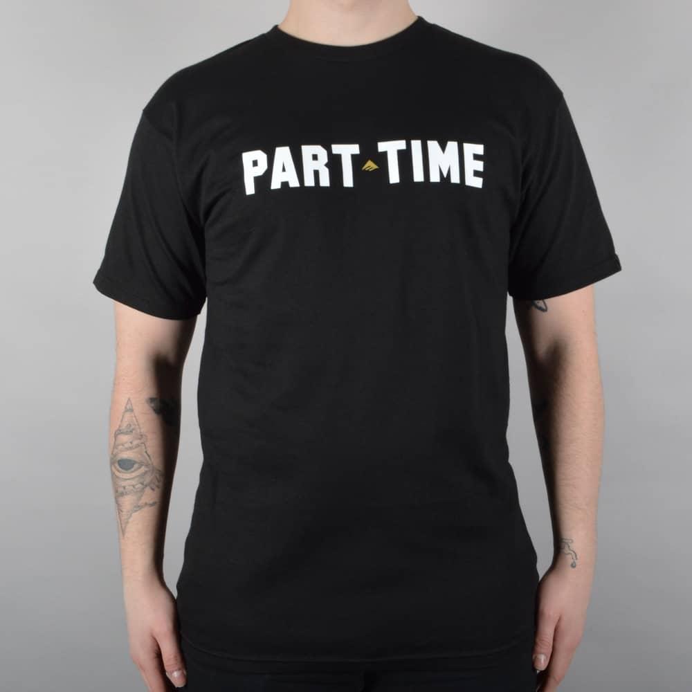 Emerica Part Time Skate T-Shirt - Black - SKATE CLOTHING from Native ... dc002c822