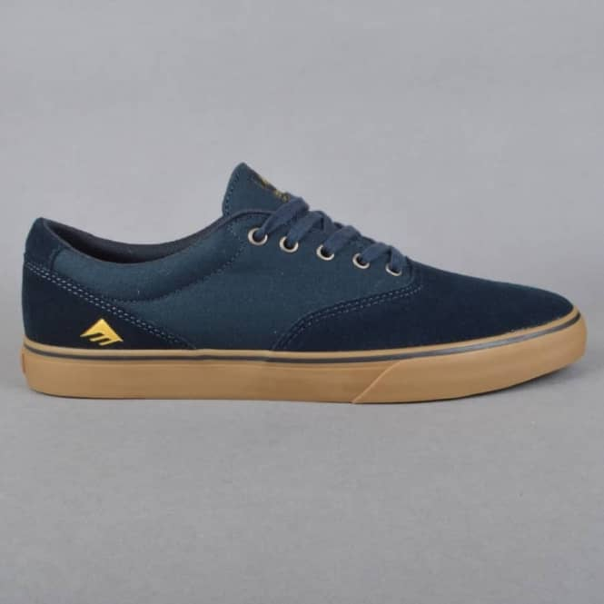 Emerica Provost Slim Vulc Skate Shoes - Navy/Gum