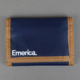 Pure Tri-Fold Wallet - Blue/Tan