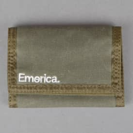 Emerica Pure Tri-Fold Wallet - Olive