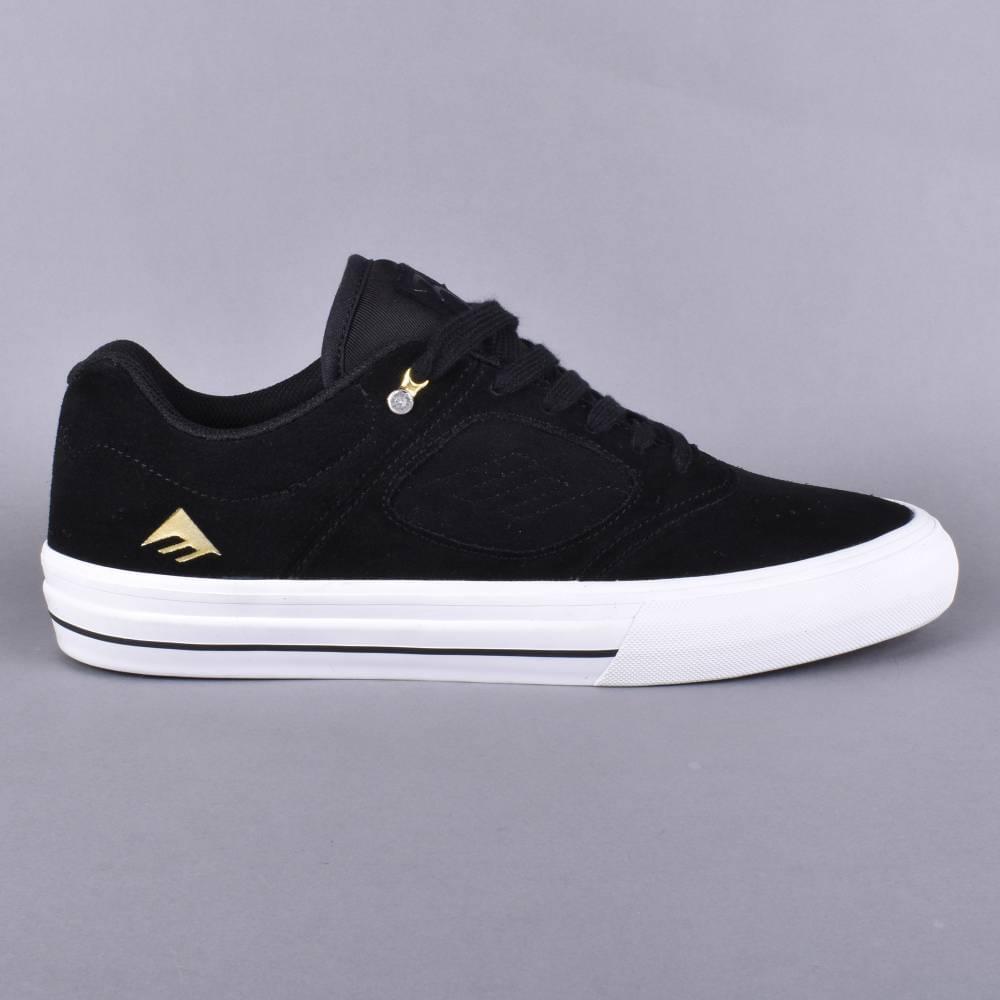 Emerica Reynolds 3 G6 Vulc Skate Shoes - Black White Gold - SKATE ... e312d5d75