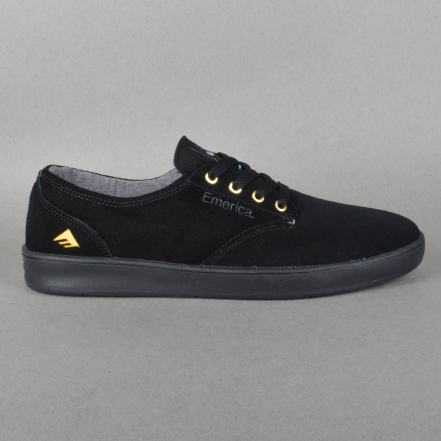 emerica romero laced x stay flared skate shoes black
