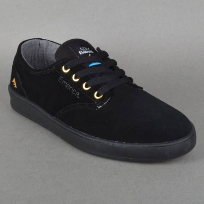 Romero Laced X Stay Flared Skate Shoes - Black/Black
