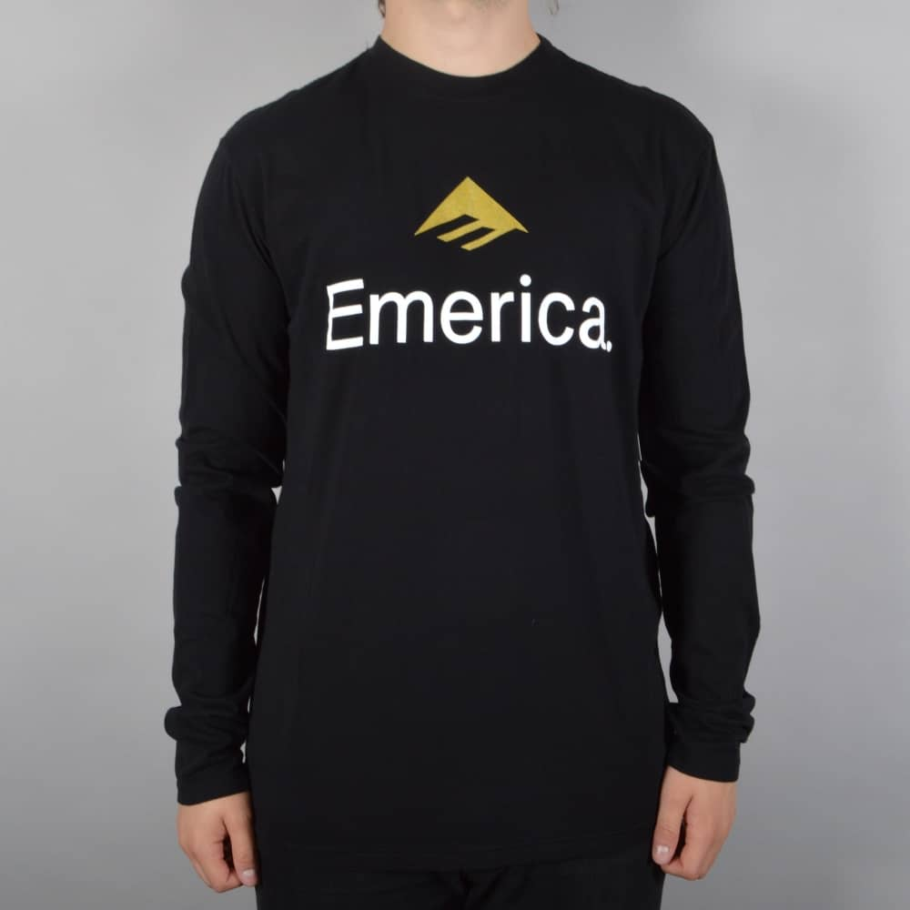 Emerica Skateboard Logo Longsleeve T-Shirt - Black - SKATE CLOTHING ... cc97b1bad